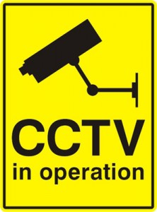 CCTV sign to make it more obvious that there is close circuit television installed
