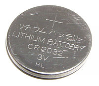 aCR2032 lithium battery used in the yale magnetic contacts