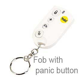 Yale key fob with panic button