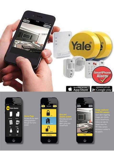 yale easy fit smart phone alarm